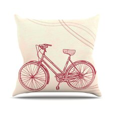 Bicycle by Sam Posnick Throw Pillow