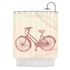 Bicycle Polyester Shower Curtain