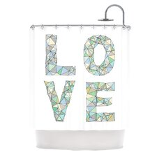 <strong>KESS InHouse</strong> Four Letter Word Polyester Shower Curtain