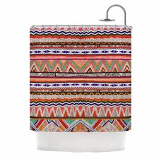 Native Tessellation Polyester Shower Curtain