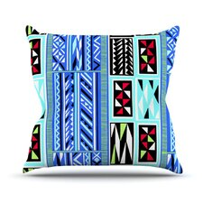 American Blanket Pattern Throw Pillow