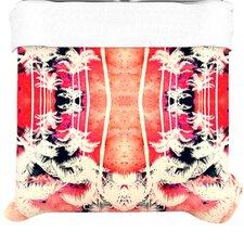 """""""Pink Lemonade Palm Trees"""" Woven Comforter Duvet Cover"""