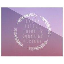 Little Thing by Anna Farath Textual Art Plaque
