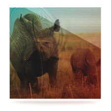 <strong>KESS InHouse</strong> Abstract Rhino Wall Art