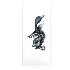 Swan Horns Floating Art Panel