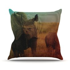 <strong>KESS InHouse</strong> Abstract Rhino Throw Pillow