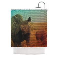 Abstract Rhino Polyester Shower Curtain