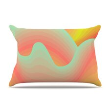 <strong>KESS InHouse</strong> Way of the Waves Blossom Bird Microfiber Fleece Pillow Case
