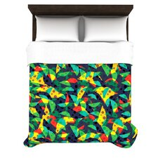 Diamonds by Apple Kaur Designs Fleece Duvet Cover