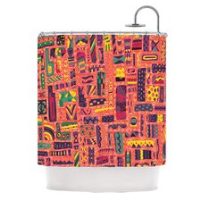<strong>KESS InHouse</strong> Squares Polyester Shower Curtain