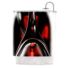 Red for Two Polyester Shower Curtain