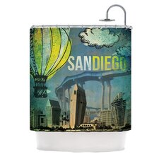 San Diego Polyester Shower Curtain