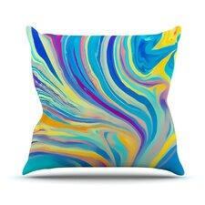 Rainbow Swirl by Ingrid Beddoes Throw Pillow