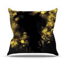 Moonlight Dandelion Throw Pillow