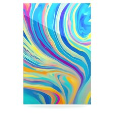 Rainbow Swirl Floating Art Panel