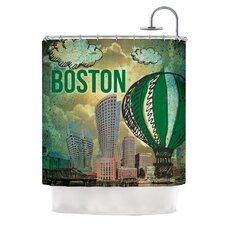 Boston Polyester Shower Curtain