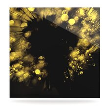 Moonlight Dandelion Floating Art Panel
