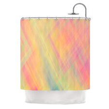 Pastel Abstract Polyester Shower Curtain