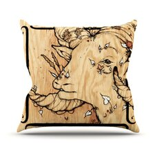 Ram by Jennie Penny Throw Pillow