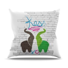 <strong>KESS InHouse</strong> Elephants Throw Pillow