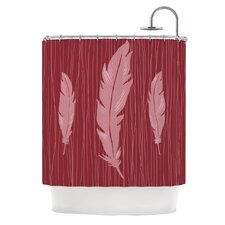 Feathers Polyester Shower Curtain