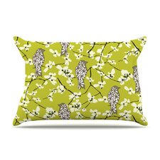 Blossom Bird Microfiber Fleece Pillow Case