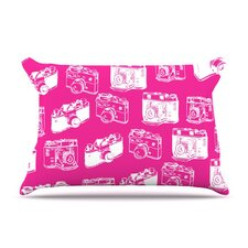 Camera Pattern Microfiber Fleece Pillow Case