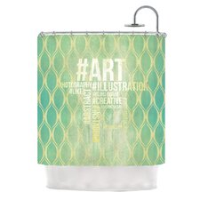 Hashtag Polyester Shower Curtain