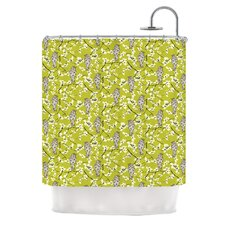 Blossom Bird Polyester Shower Curtain
