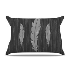 Feathers Microfiber Fleece Pillow Case