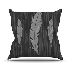 Feathers by Jaidyn Erickson Throw Pillow