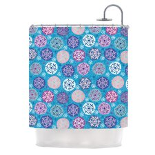 Floral Winter Polyester Shower Curtain