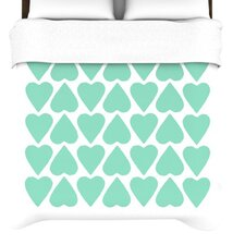 <strong>KESS InHouse</strong> Up and Down Hearts Duvet Cover