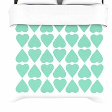 Diamond Hearts Duvet Cover