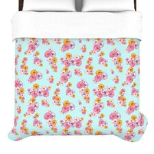 Paper Flower Duvet Cover