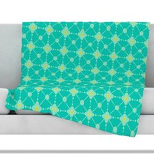 Hive Blooms Fleece Throw Blanket