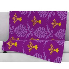 Crowns Fleece Throw Blanket