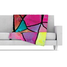 Stain Glass 3 Fleece Throw Blanket