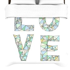 """Four Letter Word"" Woven Comforter Duvet Cover"