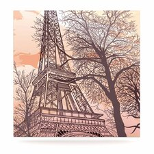 Eiffel Tower by Sam Posnick Painting Print Plaque