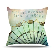 Every Summer Has a Story by Sylvia Cook Throw Pillow