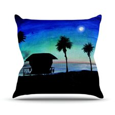 Carlsbad State Beach Throw Pillow