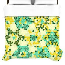 Flower Garden Mosaic Duvet Cover