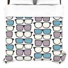 """Spectacles Geek Chic"" Woven Comforter Duvet Cover"