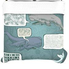 """""""Whale Talk"""" Woven Comforter Duvet Cover"""