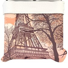 Eiffel Tower Fleece Duvet Cover