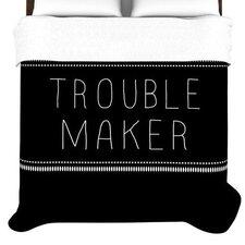 """""""Trouble Maker"""" Woven Comforter Duvet Cover"""