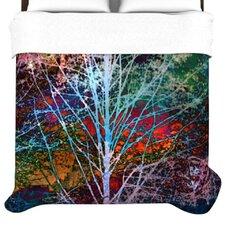 """Trees in the Night"" Woven Comforter Duvet Cover"