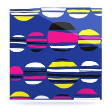 Retro Circles Floating Art Panel