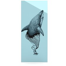 Shark Record II by Graham Curran Graphic Art Plaque